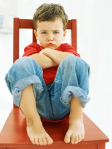 boy pouting sitting chair 359px