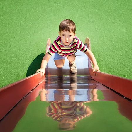 up the slide