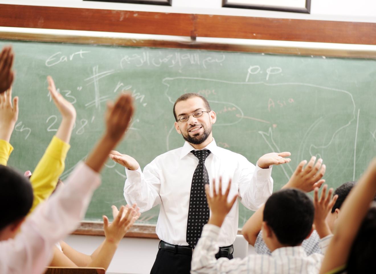 classroom male teacher